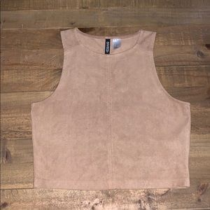 Suede Crop Top